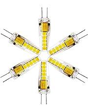 6 stuks G4 LED-lamp, 3 W helder 2835 SMD 12 V G4 lamp vervanging voor 30 W halogeenlampen, warm wit, 12 V AC/DC 360 graden LED silicagel lampen