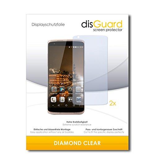 disGuard 2 x Bildschirmschutzfolie ZTE Axon Mini Premium Edition Schutzfolie Folie DiamondClear unsichtbar