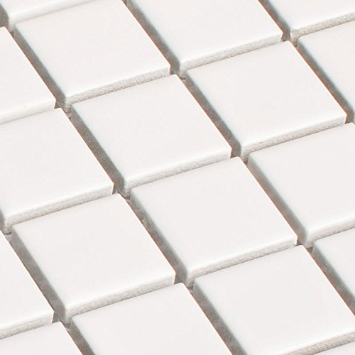 Keramik Mosaik Fliesen Weiß Matt 6 mm