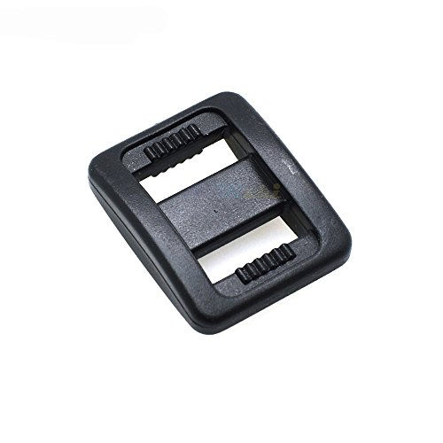 50pcs 3/8 Plastic Slider Tri-Glide Adjust Buckles Backpack Straps Webbing 10mm Black