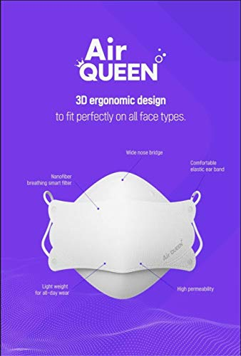 [10 Pack] *::Authentic::* [AirQueen] 3-Layers NanoFilter Face Safety Mask [Individually Packaged] [Made in South Korea]