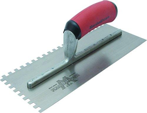 Marshalltown NT696 16-Inch Notched Trowel 1/2 x 1/2 x 1/2-Inch Sq-Soft Grip Handle