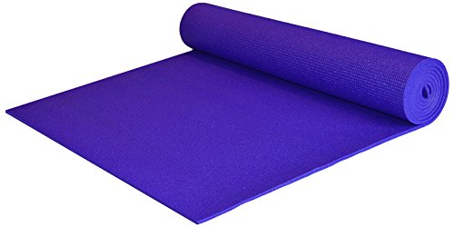 YogaAccessories Extra Wide and Extra Long 1/4'' Thick Deluxe Yoga Mat (Purple)