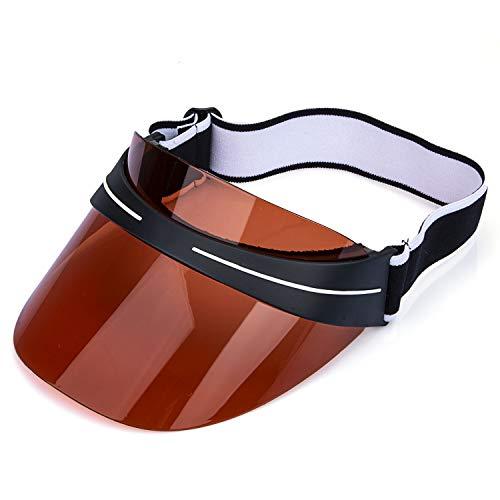 Sun Visor Hat UV Protection Cap Women Kids Girls Boys Summer Adjustable Elastic Strap Orange Sun Visor