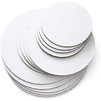 """Cakegirls Cake Board Circles Grease Proof- 6"""", 8"""", 10"""" Round Variety Pack - 5 of Each, 15 Total - High Quality (Includes Cakegirls Basic Stacking Instructions™)"""