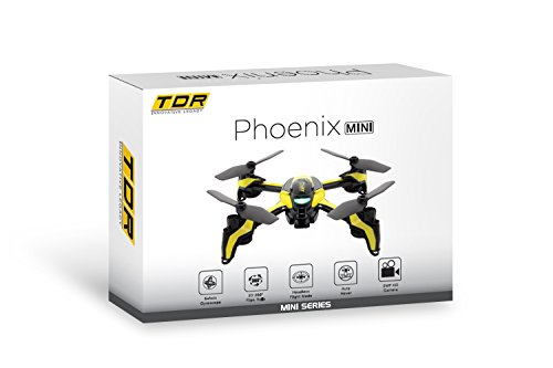 Tenergy TDR Phoenix Mini RC Quadcopter Drone with HD Video Camera, Auto Hovering, Mini RC Drone with 720P HD Camera