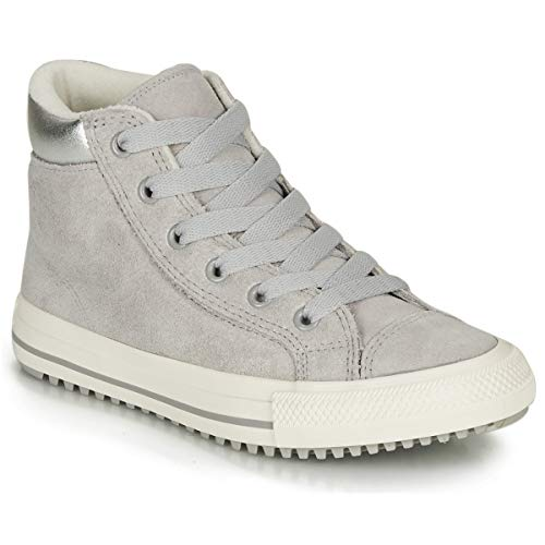 Converse Chuck Taylor All Star PC Boot Hi Ash Grey/Pure Silver Suede 13 US Child