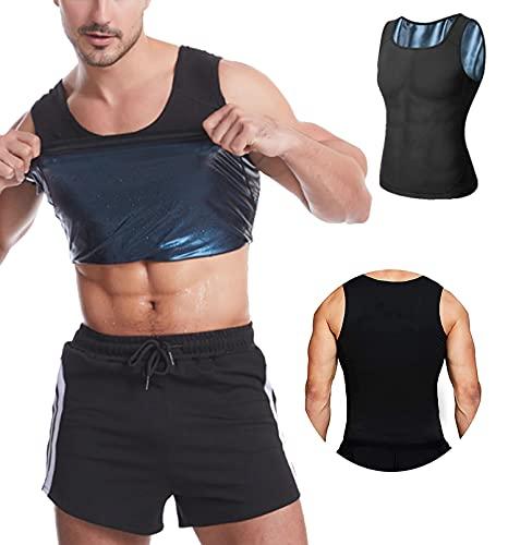 langjiao Débardeur de Sudation pour Homme Gilet,de Minceur, Fitness,T-Shirt,Effet Sauna Sport,...