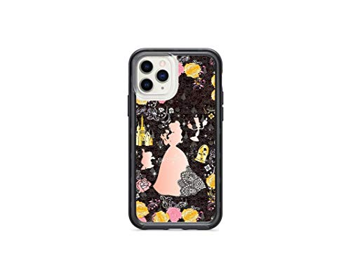 Kaidan Princess Belle iPhone 12 Case 11 Pro Max Lumiere 6s 6 8 7 Plus Beauty and The Beast SE XR X XS Samsung Galaxy S10e Case S9 S8 Cogsworth S20 S10 + Note 10 20 Enchanted Rose Google Pixel 3 SCPD4