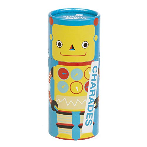 Talking Tables DIP-JNR-CHARADES Junior Dipsticks Scharaden für Kinder Spiel | Fun Family Guessing Game | Für Kinder, Geschenkbare Roboterbox, Weihnachten, Geburtstag, Schauspiel, Reisen