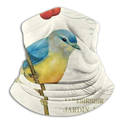 July Birds On The Trees Polaina de 3 cuellos UV Sun Cover Dust Wind Face Cover Half Face Scarf for Motorcycle Riding