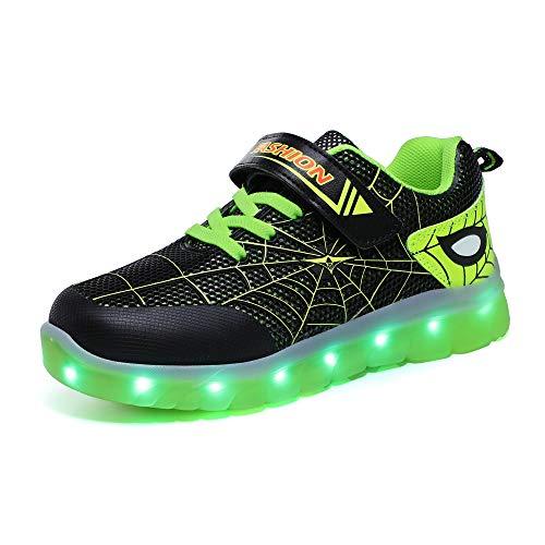 evenlove Unisex Kinder Turnschuhe Licht LED Sneaker Blinkt Damen Herren Schuhe 7 Farben mit USB Aufladbare Leuchtschuhe Blinkende Kinderschuhe für Mädchen Jungen Gr 25-37