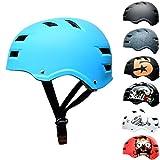 SkullCap Casco de Skate y BMX - Bicicleta Y Scooter Eléctrico, Diseño: Blue Ocean, Talla: L (58-61 cm)