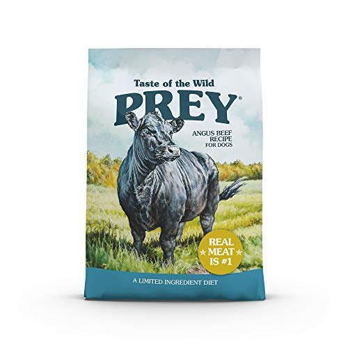 Taste of the Wild PREY Real Meat High Protein Limited Ingredient Dry Dog Food Grain-Free Recipe Made with Premium Real Ingredients that Provide High Amounts of Protein Antioxidants and Probiotics 25lb