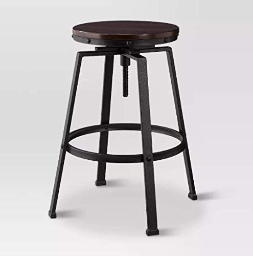 Lewiston Adjustable Swivel Barstool Bronze - Threshold™
