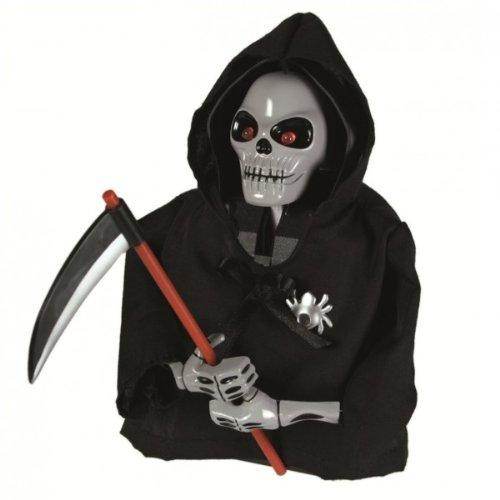 Die Skull Shocker Sensenmann Figur mit Bewegungsmelder, Licht und Sound