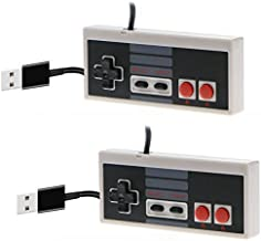 CC&SS 2 Packs USB Controller for Classic NES, USB Famicom Game Gaming Controller Joypad Gamepad for Laptop Computer Window...