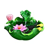 Tanque de Acuario Creative Lotus-Style Desktop Fish Tank Acuario Fuente Bonsai Humidificador Atomizador Hogar Sala de Estar Oficina Acuario Decoración Acuario para Peces de Colores (Color : A)