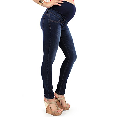 MAMAJEANS - Milano Dark Blue Denim Maternity Jeans Made in Italy, Size - 28