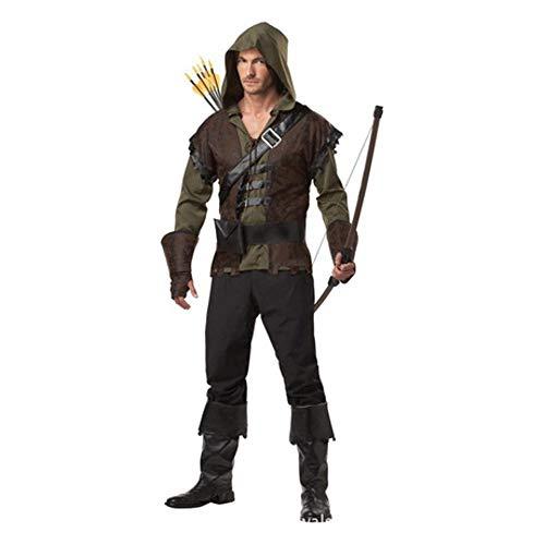 YyiHan Cosplay Disfraz, Grand Theft Trajes de Robin Hood de los Hombres Trajes Flechas Fotografía de Maquillaje Disfraces de Halloween Cosplay Trajes de Fiesta demostración de la Etapa Trajes