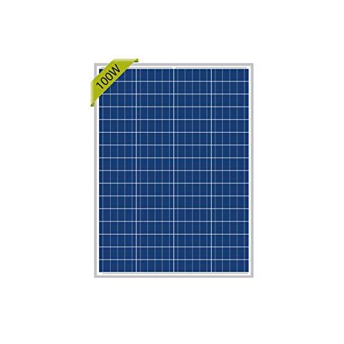 Newpowa 100W 12V Panel Solar policristal 100W 12V alta eficiencia memoria RV Marine Barco Off Grid.