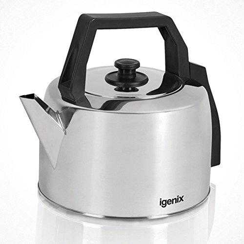 Igenix IG4350 Corded Catering Kettle, Traditional Hot Water Boiler with Lift Off Lid, Ideal for Household or Commercial Use, Stainless Steel, 2200 W, 3.5 Litre Capacity