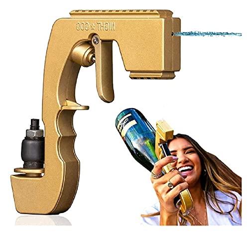 GDYJP Aleación de Zinc Bubbly Bipaster Champagne Gun, Dispensador de vinos Fuente Pulverizador de Botellas, Alimentación Pistola de coqueteo Ejector de Cerveza para Body Party Night Bar