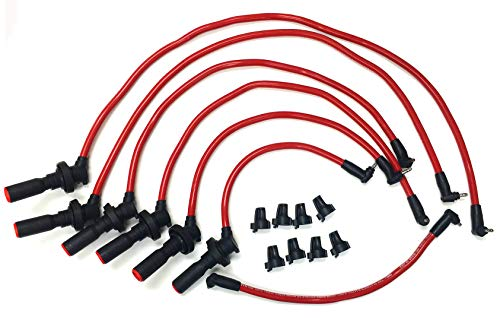 GS300 SC300 Supra 3.0L DOHC 2JZGE 92-98 10 mm High Performance Red Spark Plug Wire Set 23019