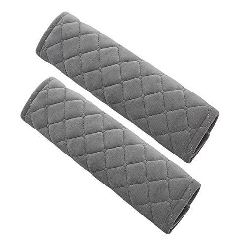 Cojín para cinturón de seguridad, 1 par de, extraíble y lavable, ideal para cinturón de seguridad, mochila, (Grey)