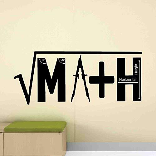 ASFGA Mathe Wandtattoo Formel Bildung Mathe Formel Türen und Fenster Vinyl Aufkleber Studie Klassenzimmer Schullehrer Geschenk Interieur Teen Schlafzimmer 42x99cm