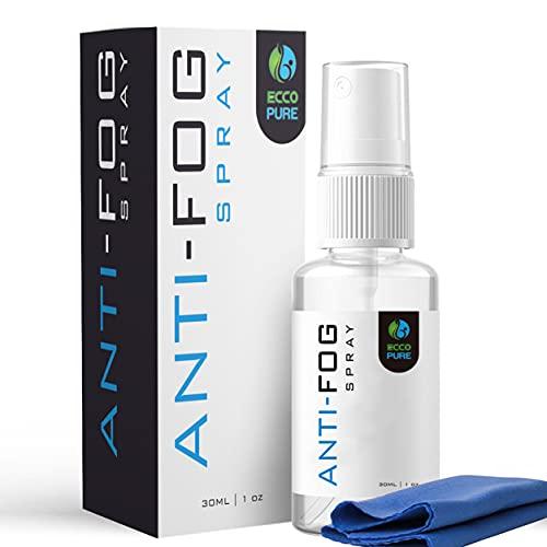 Anti Fog Spray for Glasses - Glass Cleaner, Defogger for Eye Glasses, VR Headset, Snorkel Mask, Diving Mask, Ski Goggles, Mirror, Window, Windshield