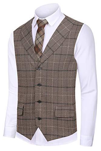 Men's Waistcoat Collar Sleeveless Slim Fit Jacket