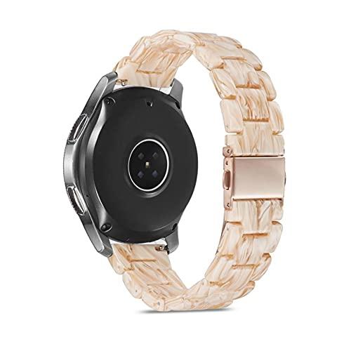 YYCHER Correa de reloj de resina de 20 mm y 22 mm para Samsung Galaxy Gear S3, correa de acero inoxidable, hebilla de...