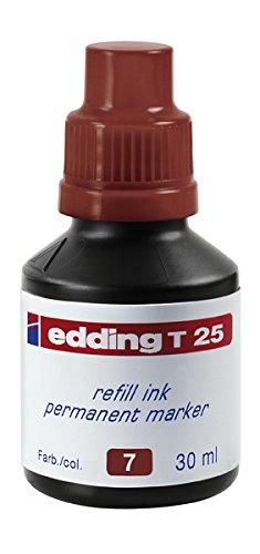 edding Nachfülltinte edding T 25, für edding Permanentmarker, 30 ml, braun