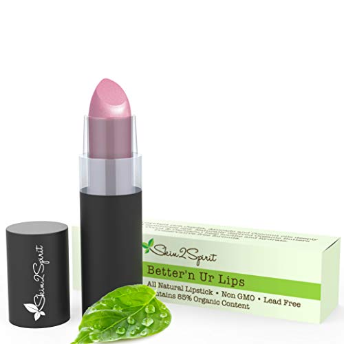 Better'n Ur Lips Vegan Lipstick (SWEET PEA 2.0)   100% Natural   Organic   Gluten Free   Cruelty Free   Vegan   Lead Free   Paraben Free   Petroleum Free   Healthy Color that's Good for your Lips!