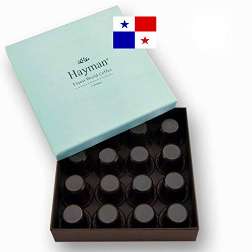 100% Panama Geisha coffee pods compatible with Nespresso®* Original Machines - One of the world's best coffees, fresh roasted for you! (Box with 16 pods)