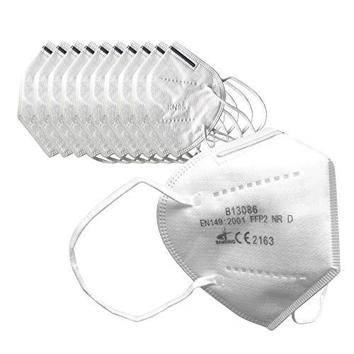 Ovitus 10 x Atemschutz Maske Mundschutz Mund und Nasenschutz Atemmaske mit Nasenclip Sicherheitsschutz