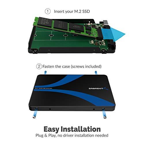 Sabrent M.2 SSD [NGFF] to USB 3.0 / SATA III 2.5-Inch Aluminum En   closure Adapter (EC-M2CU)