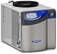Labconco 700201000 Free Zone Benchtop Freeze Dryer with Non-Coated Stainless Steel Coil, 2.5 L Capacity, -50 Degree C, North America Plug, 115V, 60 Hz, 14A