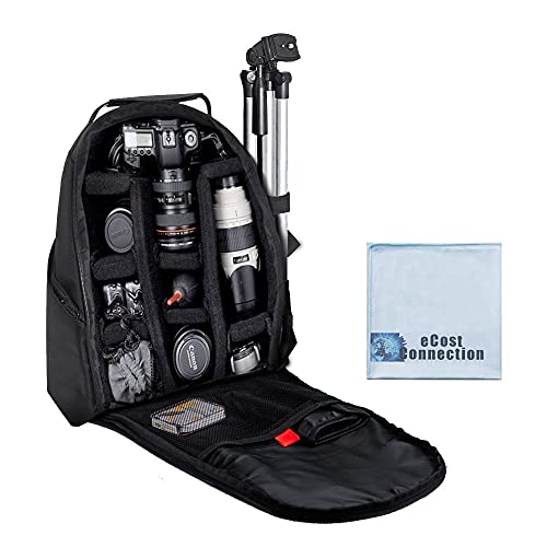 eCost BKP457 Deluxe Camera/Video Padded Backpack for SLR / DSLR Cameras with...