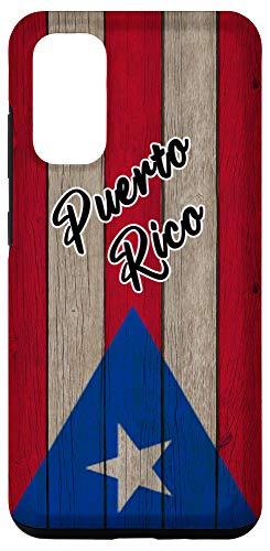 Galaxy S20 Bandera de Puerto Rico En Madera Vintage Boricua Pride Flag Case