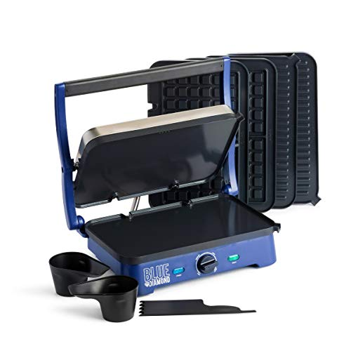 Blue Diamond Cookware Sizzle Griddle Super Deluxe Ceramic Nonstick Electric Griddle, Grill, and Waffle Maker