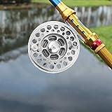 【2021 Promoción de año Nuevo】 Dispositivo de Descarga Ajustable Pulido 189g Carrete de Pesca con Mosca de Largo Tiempo de Servicio, Carrete de Metal para Peces, para Pesca Salvaje Pesca en el mar