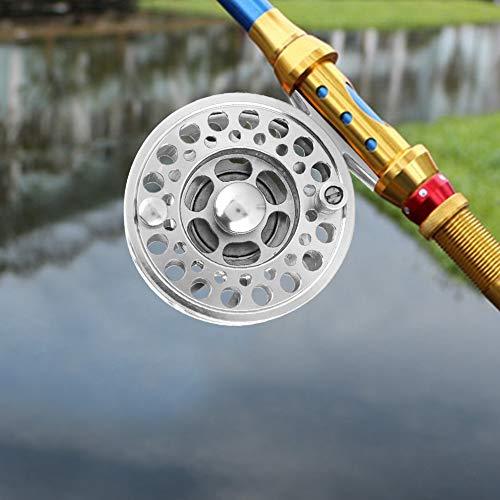 Dispositivo de Descarga Ajustable Pulido 189g Carrete de Pesca con Mosca de Largo Tiempo de Servicio, Carrete de Metal para Peces, para Pesca Salvaje Pesca en el mar