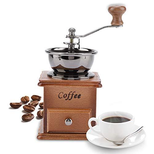Handmatige koffiemolen, retro design koffiebonen handmolen Handmatige mini-molen thuiskantoor gebruik decoratieontwerp voor het malen van koffie vanille, nootmuskaat enz.