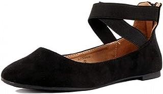 Shoes 18 Womens Ballerina Ballet Flat Shoes Solids 1801 Black 7
