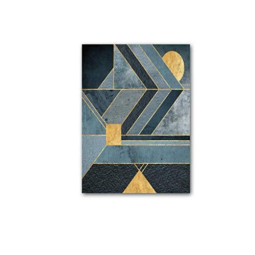 N / A Pósters geométricos abstractos de montaña e impresiones artísticas de pared, lienzo de pared, póster nórdico, decoración del hogar, 50 x 70 cm, sin marco