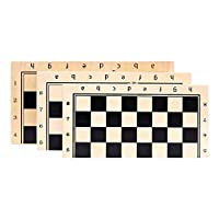 TongLingUSL ボードゲーム チェスソリッドウッドマルチボードゲーム木製チェス4クイーンズ折りたたみチェス盤34チェスピースチェスマンポータブルキッドのおもちゃチェッカー (Color : ベージュ, Size : 34x34x2.5cm)