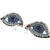 MagiDeal 2pcs Cuentas de Diamantes Imitación Apliques Parche de Bricolaje Adorno Costura