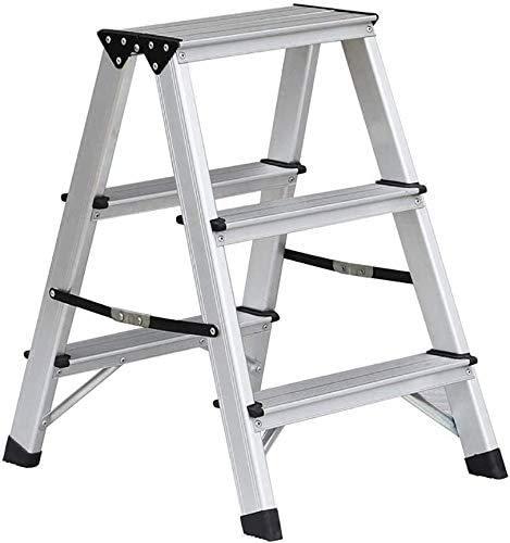 Huishoudelijke opvouwbare Ladder Kruk, Dikke Aluminium Ladder Dubbele Side Ladder Volwassen Kinderen Pedaal Kruk Prachtig vakmanschap, Praktisch